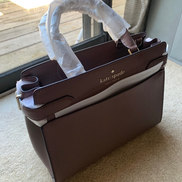 NWT Kate Spade satchel, light purple/grey